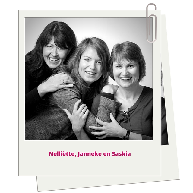 Teamfoto Nelliette, Janneke en Saskia